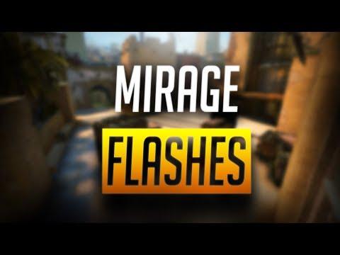 CS:GO - BEST MIRAGE POP FLASHES *NEW* (2018)