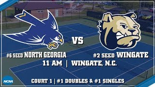 2018 NCAA D2 Tennis Tournament - Southeast Region 2 - #6 North Georgia vs #2 Wingate (Court 1)