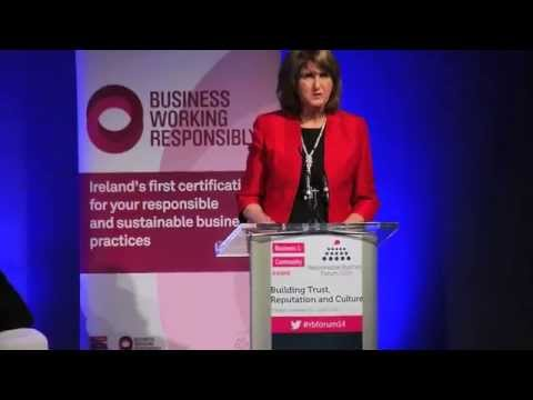 CEO Forum 2014 Joan Burton Tanaiste and Minister for Social Protection