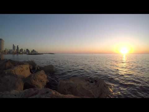 Sunset in Tel Aviv - Gordon's Marina walkway.