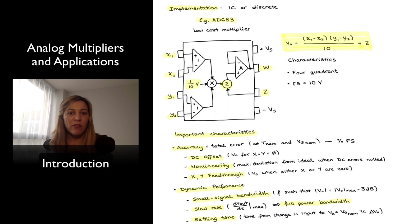 Introduction to Analog Multipliers