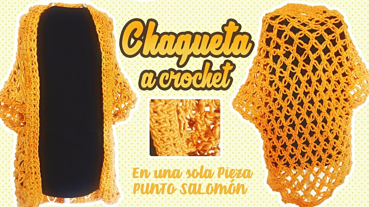 Canela A Punto En Salomon Crochet Chaqueta qzaw0xgx