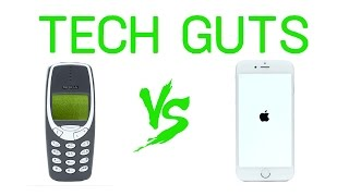 Nokia 3310 vs iPhone 6s Throwdown | Tech Guts | WIRED