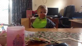 Bastian eating his pasta..... Thumbnail