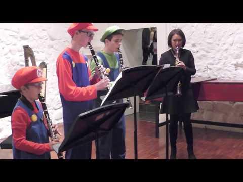 Présentation de la clarinette par Cindy Lin avec Kenzo, Merlin et Benoît, 25 mars 2017