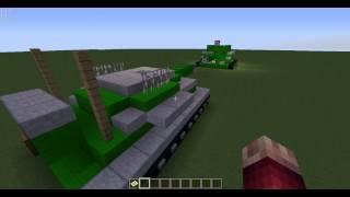 видео: война танков в minecrafte