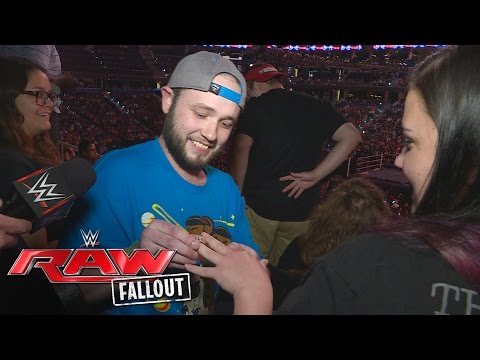 Watch as two members of the WWE Universe get engaged: Raw Fallout, June 27, 2016