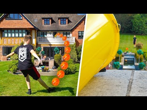 HOMEMADE FOOTBALL TRICKSHOTS!