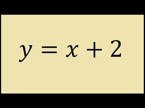How to graph y = x + 2