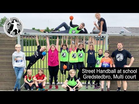 Street Håndbold i skolen med 5 klasse fra Gredstedbro Skole, Multi-bane