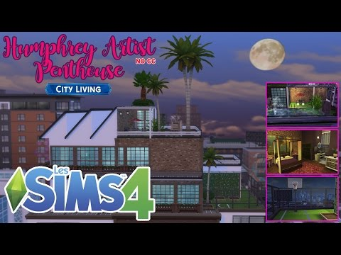 "SIMS 4 - Let's Build "" Humphrey Artist Penthouse"""