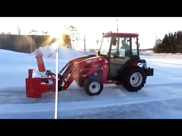 Трактор TYM 353 снегоуборочный ротор