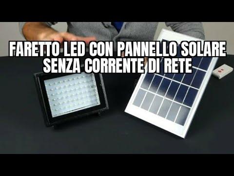 Luce Per Esterno Con Pannello Solare.Come Funziona Il Faretto Led Con Pannello Solare Senza Corrente Di Rete