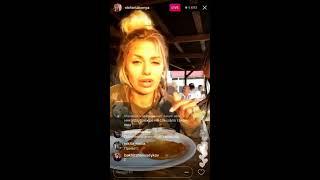 Виктория Боня с подругой в прямом эфире Instagram 06-05-2017