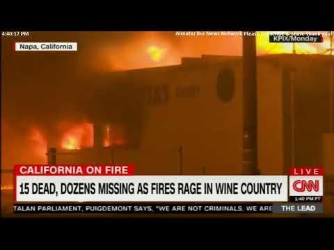 California Wildfire - Napa, Sonoma, Santa Rosa California fires : 21dead, hundreds missing