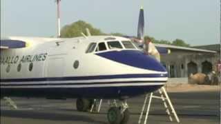 Cockpit ANTONOV 24 Djibouti to Bossaso, Somalia