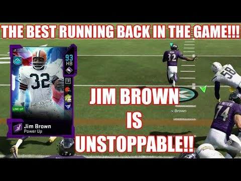 Jim Brown In UNSTOPPABLE! Un-Real Runs And Highlights! - Madden 20 Ultimate Team