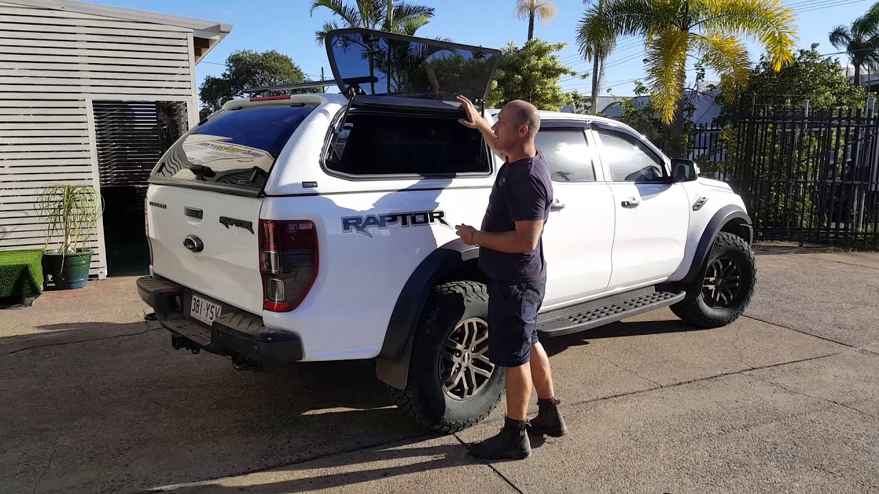 Trek4x4 Canopy Fitted to Ford Ranger Raptor 2019+ - YouTube