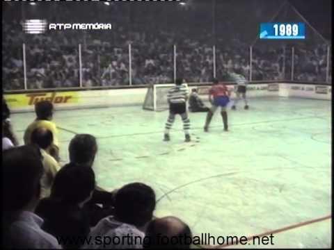 Hoquei Patins :: Sporting - 4 x Noia (Espanha) - 7  de 1988/1989 Taça dos Campeões - Final - 1ª Mão