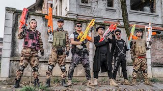 LTT Game Nerf War : Warriors SEAL X Nerf Guns Fight Crime group Braum Crazy Crooks Steal Weapons