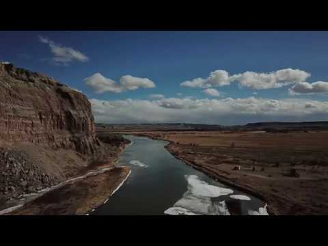 LaBarge Wyoming Red Cliffs [Drone Footage]
