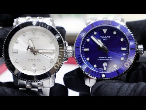 65824cb7cf HANDS-ON THE NEW TISSOT SEASTAR 1000 POWERMATIC 80 WATCHES - YouTube