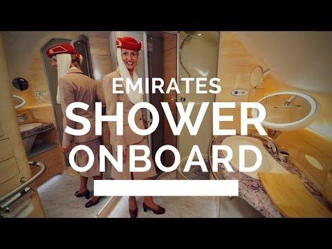 INSIDE EMIRATES $400 MILLION A380 FIRST CLASS BATHROOM