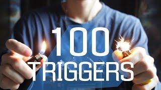 ASMR 100 TRIGGERS IN 10 MINUTES / АСМР 100 ТРИГГЕРОВ ЗА 10 МИНУТ