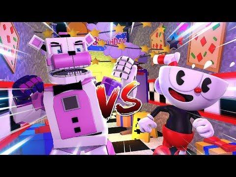 Cuphead VS Funtime Freddy- Minecraft FNAF Roleplay
