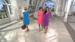 Liz Claiborne New York Lace Sleeve Bateau Neck Dress with Nancy Hornback