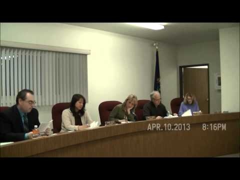April 10, 2013 Board Meeting - Cottrellville Township