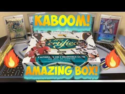 2019-panini-certified-football-hobby-box-break---amazing-box!-kaboom-+-extra-hit!