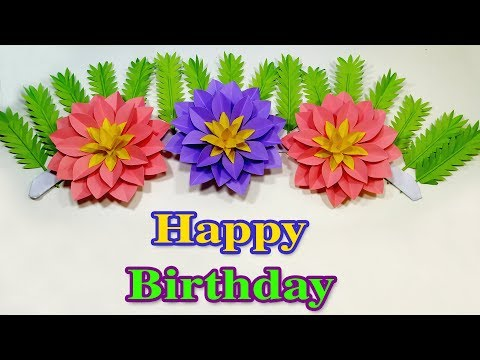 Floral Birthday Decoration Ideas!! Paper Flower Birthday Party Decoration! Jarine's Crafty Creation