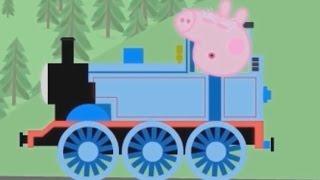 Свинка Пеппа и веселый паровозик мультик для детей