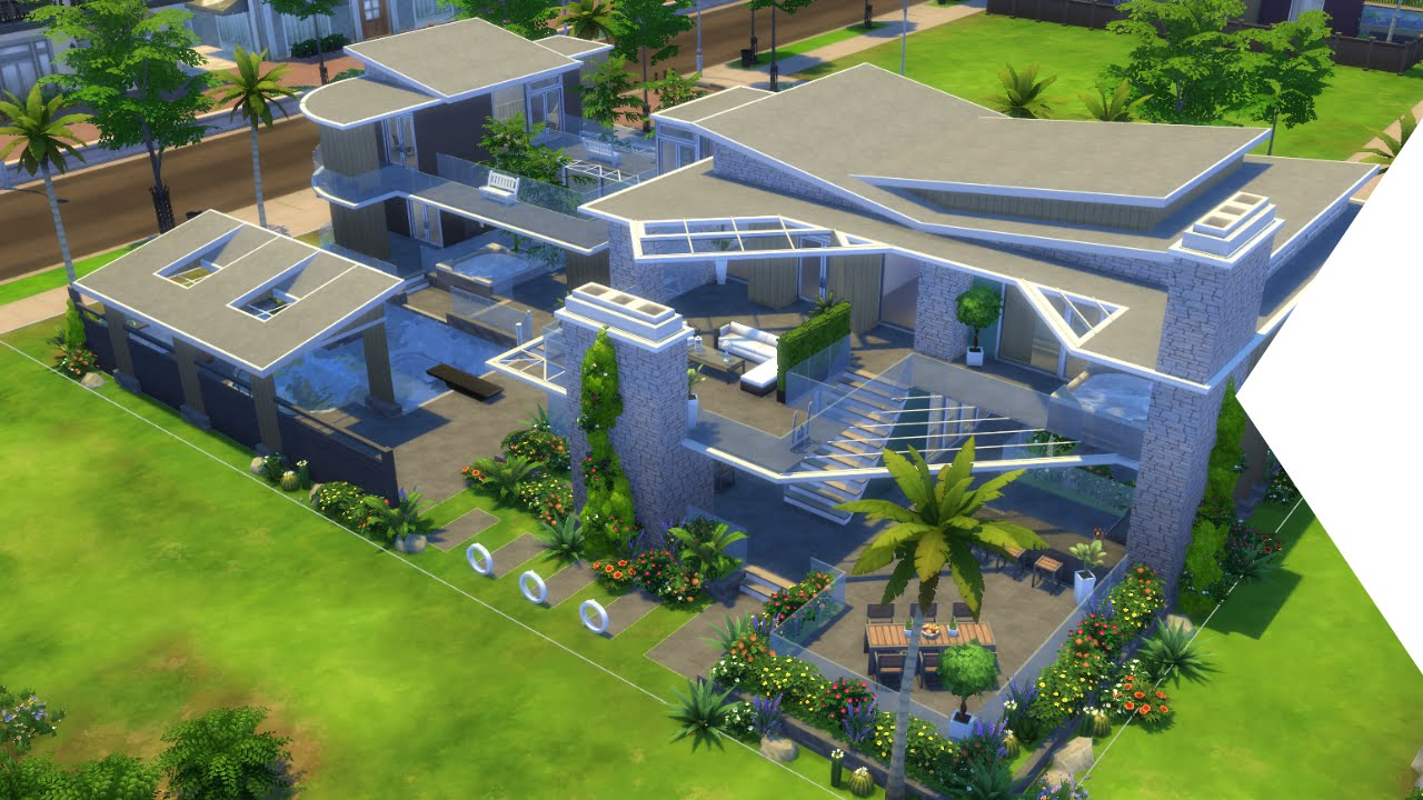 The sims 4 building hollywood hills mansion youtube for Buy house hollywood hills