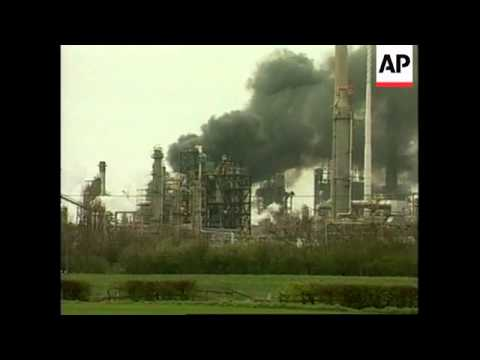 WRAP Explosion at oil refinery with pictures of scene