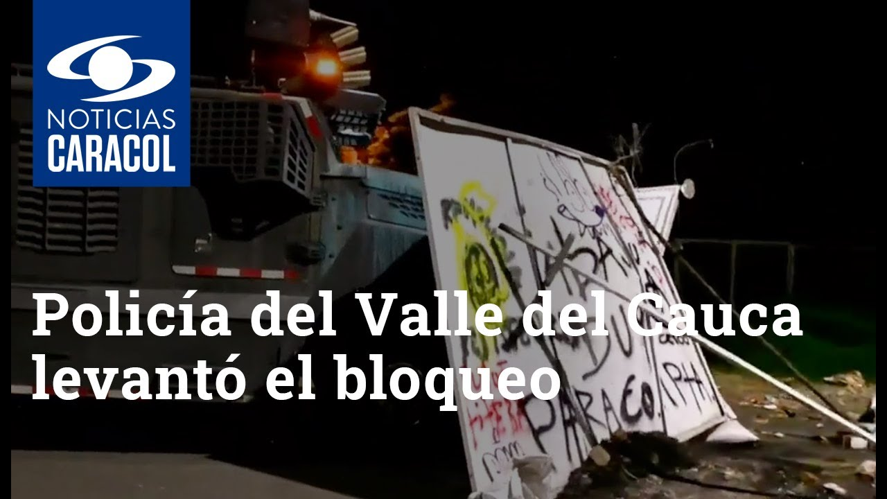 Policía del Valle del Cauca levantó el bloqueo de la vía que de Monteclaro conduce a Palmira