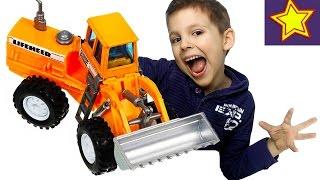 Машинки Welly Навантажувач Фронтальний розпакування іграшки Kids welly toys unboxing