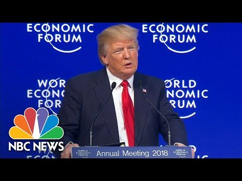 President Donald Trump In Davos: 'America Is Open For Business' | NBC News