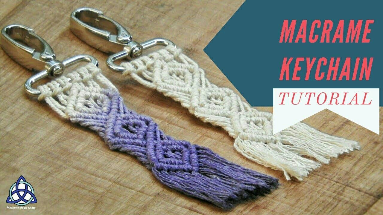 Macrame Keychain Diy Macrame Key Hanger Tutorial