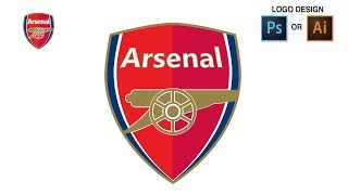 How to Draw the Arsenal Logo by iIlustrator