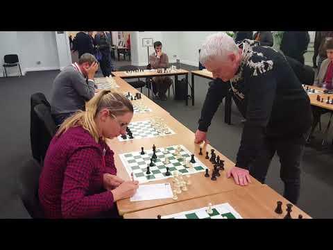 John Nunn v Aga Milewska simul at the London Chess Classic