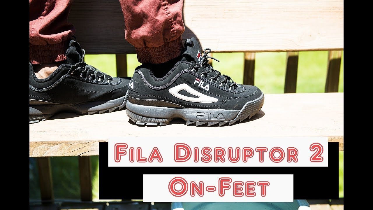 fila disruptor mens. fila disruptor 2 (black) on feet mens i
