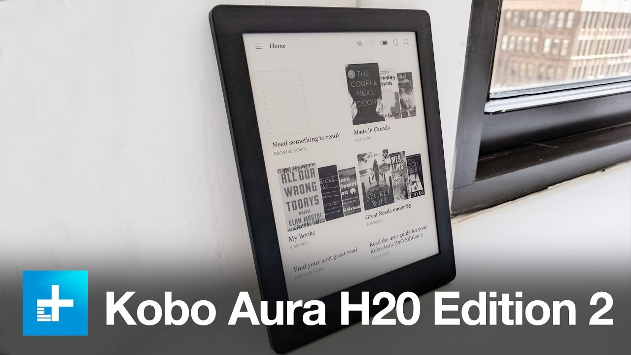 Kobo aura h2o edition 2 hands on review youtube for Housse kobo aura h2o edition 2