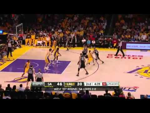NBA Playoffs 2013: NBA San Antonio Spurs Vs LA Lakers Highlights April 26, 2013 Game 3