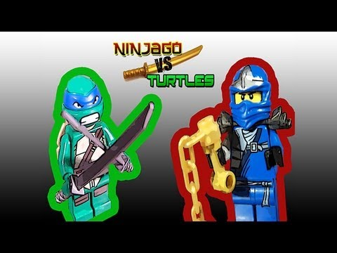 Ninjago vs turtles leoardo vs jay zx youtube - Ninjago vs ninjago ...