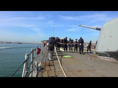 USS LAKE CHAMPLAIN CG 57 San Diego Harbor Transit