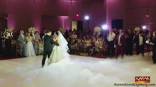 Chateau Luxe Wedding Dancing On Clouds Karma Event Lighting