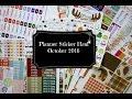 Planner Sticker Haul   October 2016