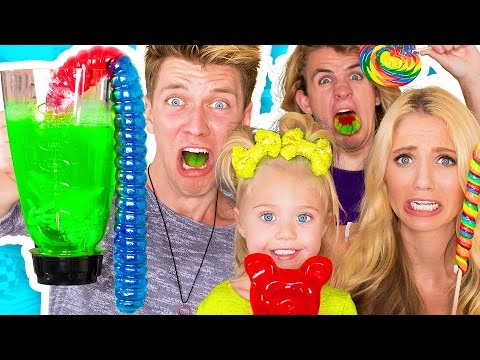 Thumbnail: SOUREST GUMMY DRINK IN THE WORLD CHALLENGE!! Warheads, Toxic Waste Smoothie (EXTREMELY DANGEROUS)